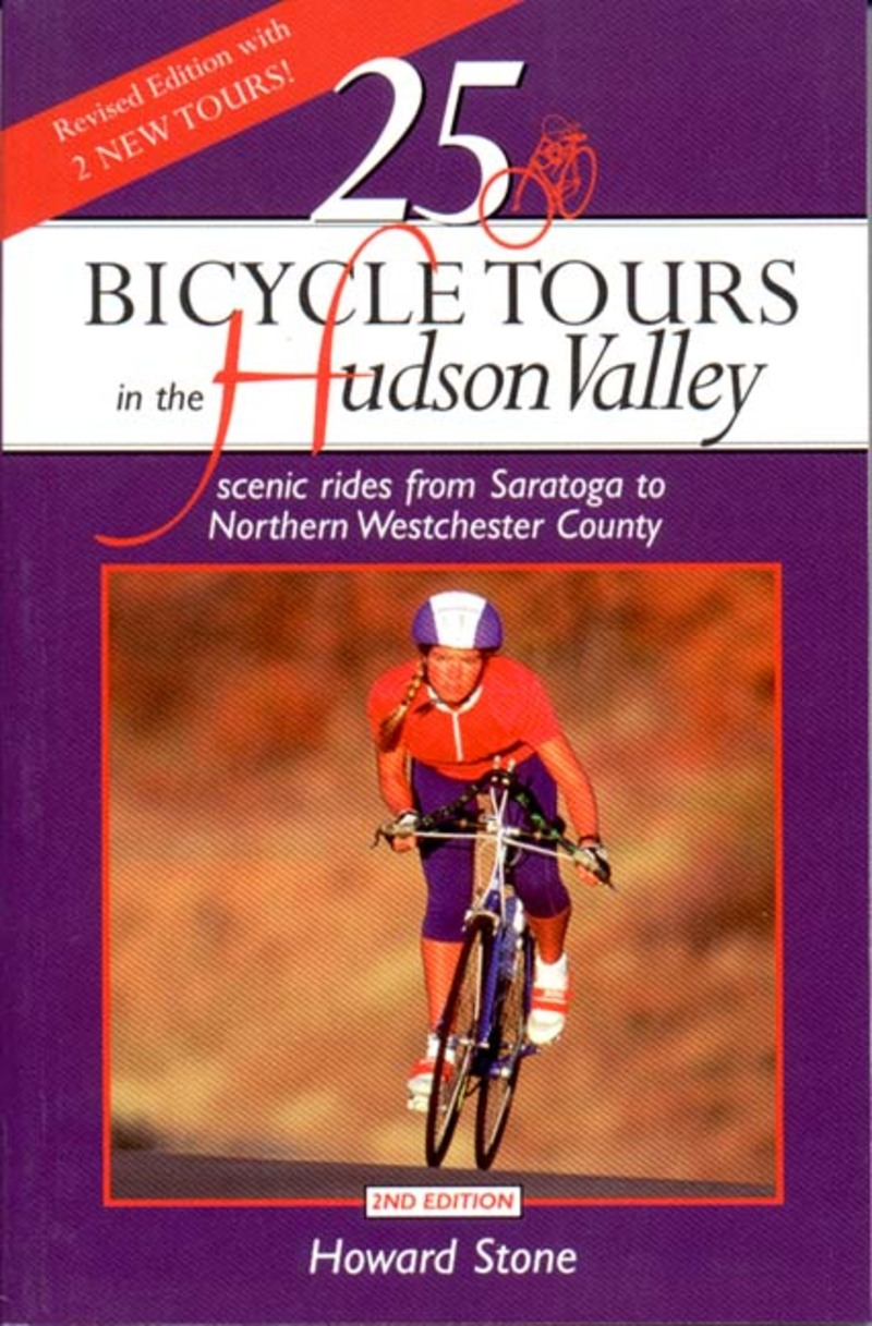 Book cover for 25 Bicycle Tours in the Hudson Valley by Howard Stone