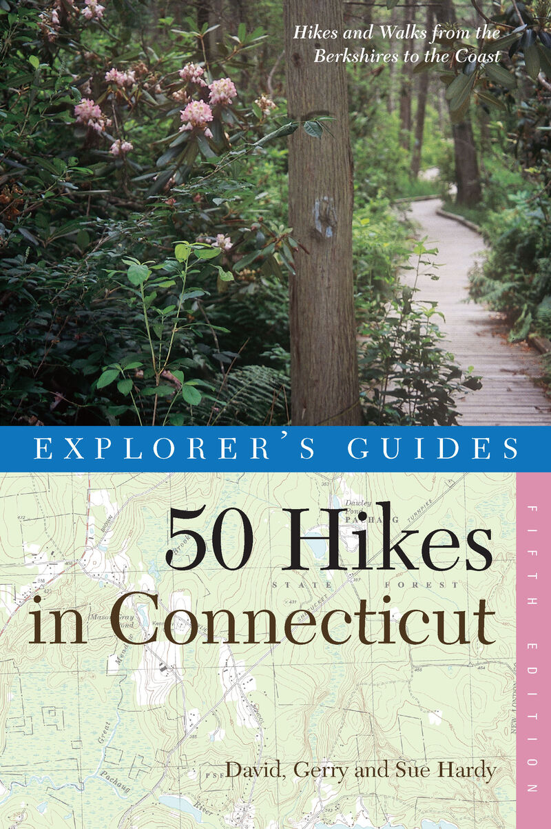 Book cover for Explorer's Guide 50 Hikes in Connecticut by David Hardy