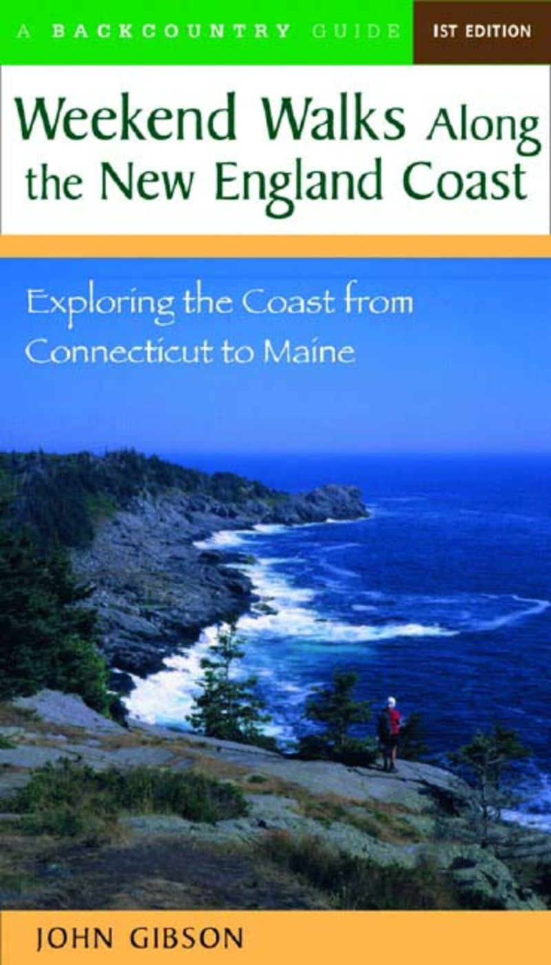 Book cover for Weekend Walks Along the New England Coast by John Gibson