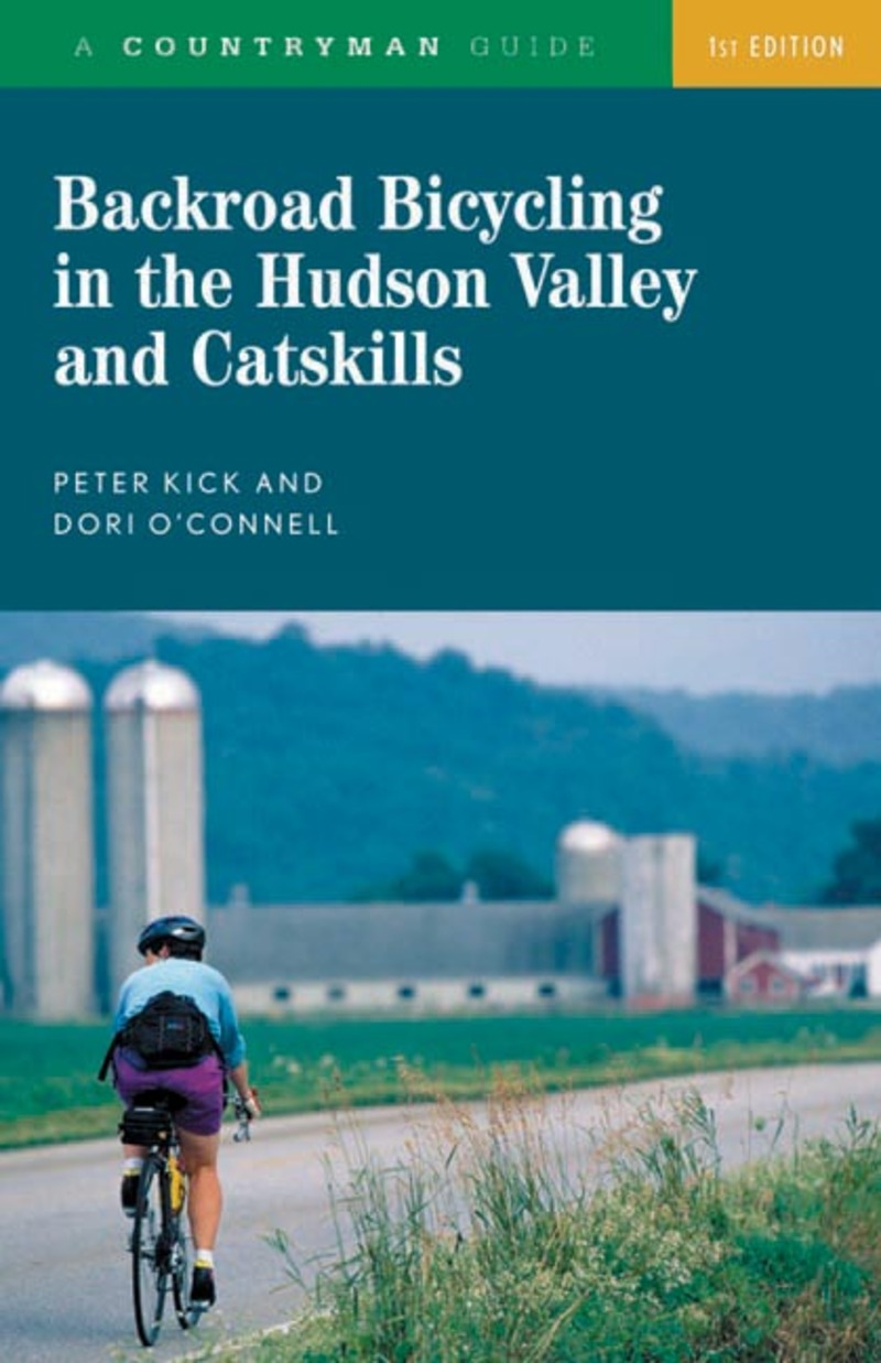 Book cover for Backroad Bicycling in the Hudson Valley and Catskills by Peter Kick