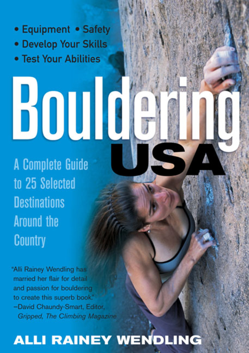 Book cover for Bouldering USA by Alli Rainey Wendling