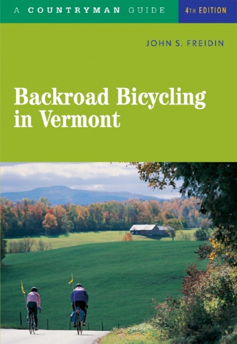 Book cover for Backroad Bicycling in Vermont by John S. Freidin