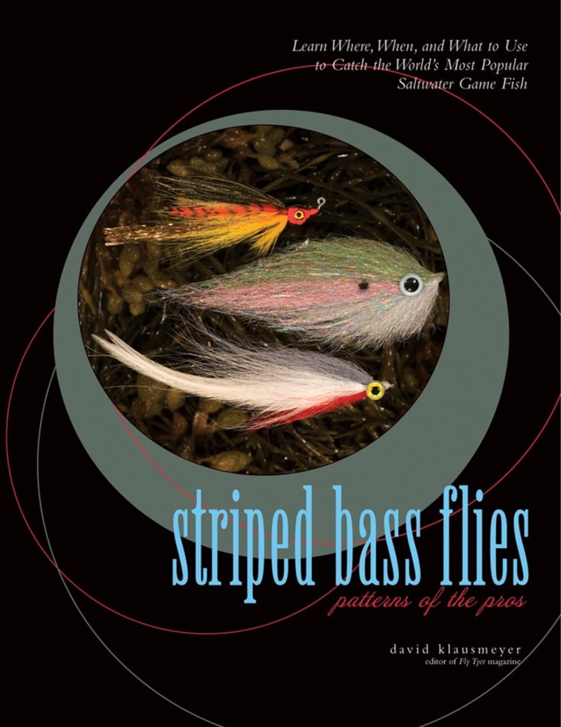 Book cover for Striped Bass Flies by David Klausmeyer