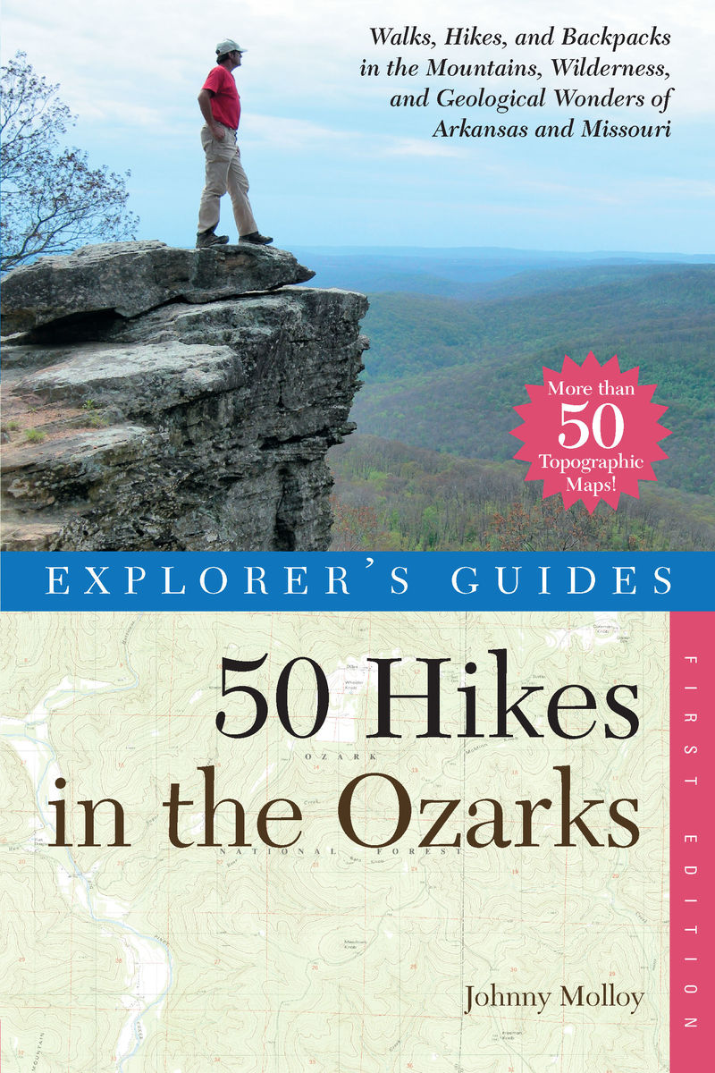 Book cover for Explorer's Guide 50 Hikes in the Ozarks by Johnny Molloy