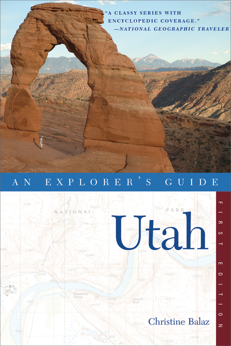 Book cover for Explorer's Guide Utah by Christine Balaz