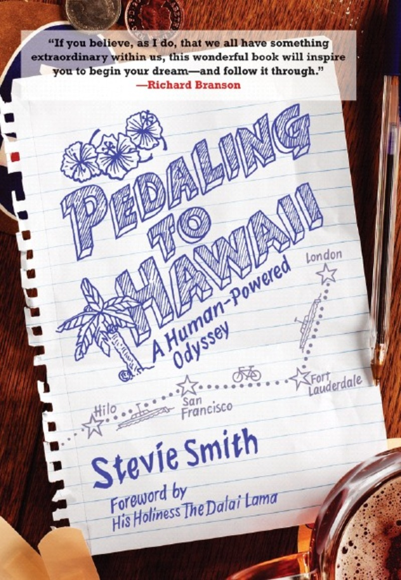 Book cover for Pedaling to Hawaii by Stevie Smith