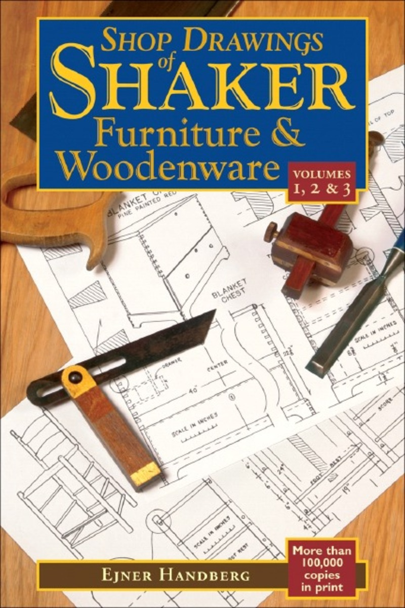 Book cover for Shop Drawings of Shaker Furniture & Woodenware (Vols, 1, 2 & 3) by Ejner Handberg