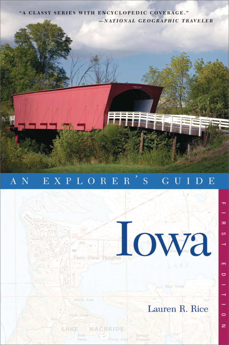 Book cover for Explorer's Guide Iowa by Lauren R. Rice