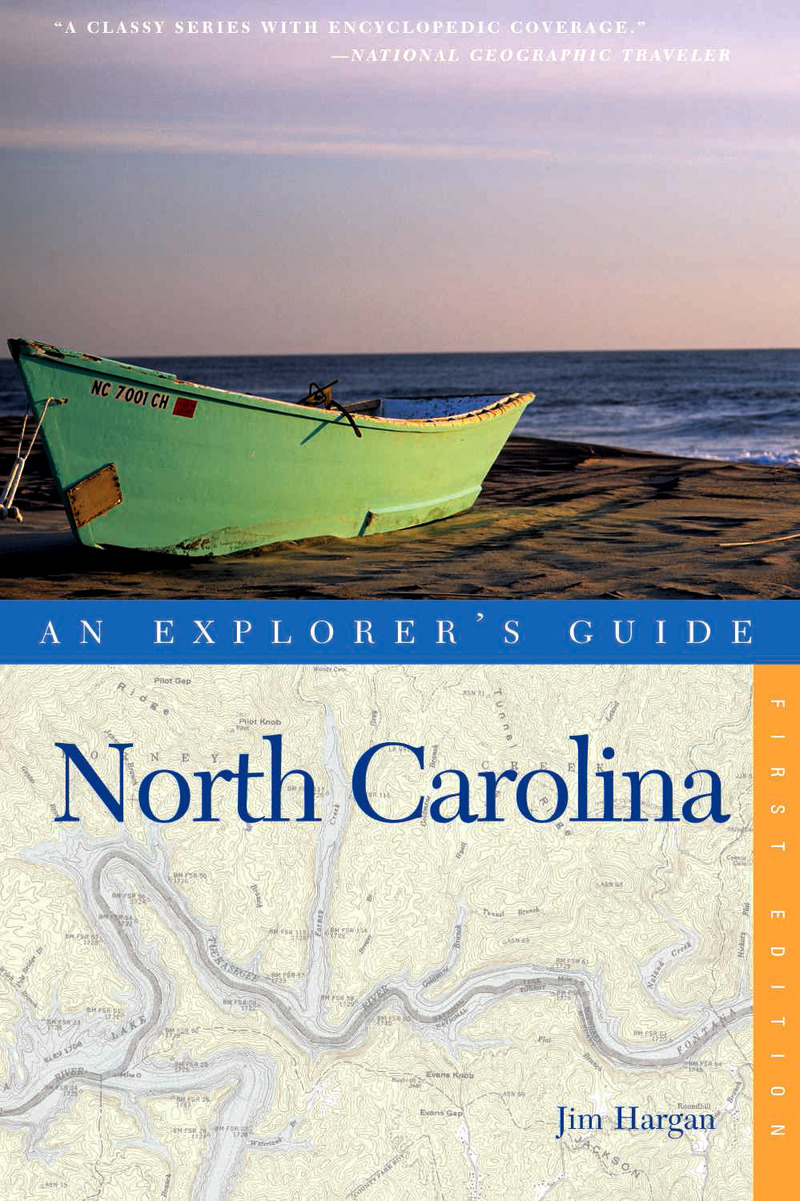 Book cover for Explorer's Guide North Carolina by Jim Hargan
