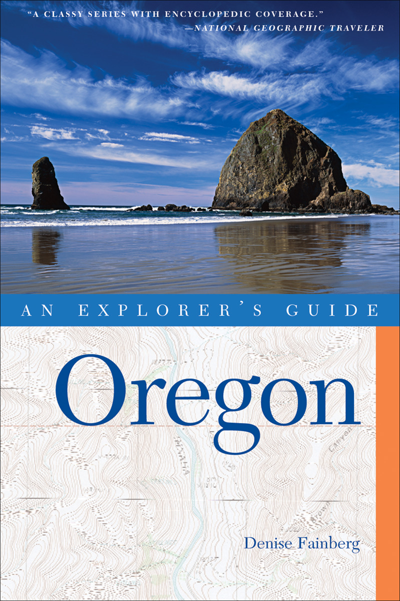 Book cover for Explorer's Guide Oregon by Denise Fainberg