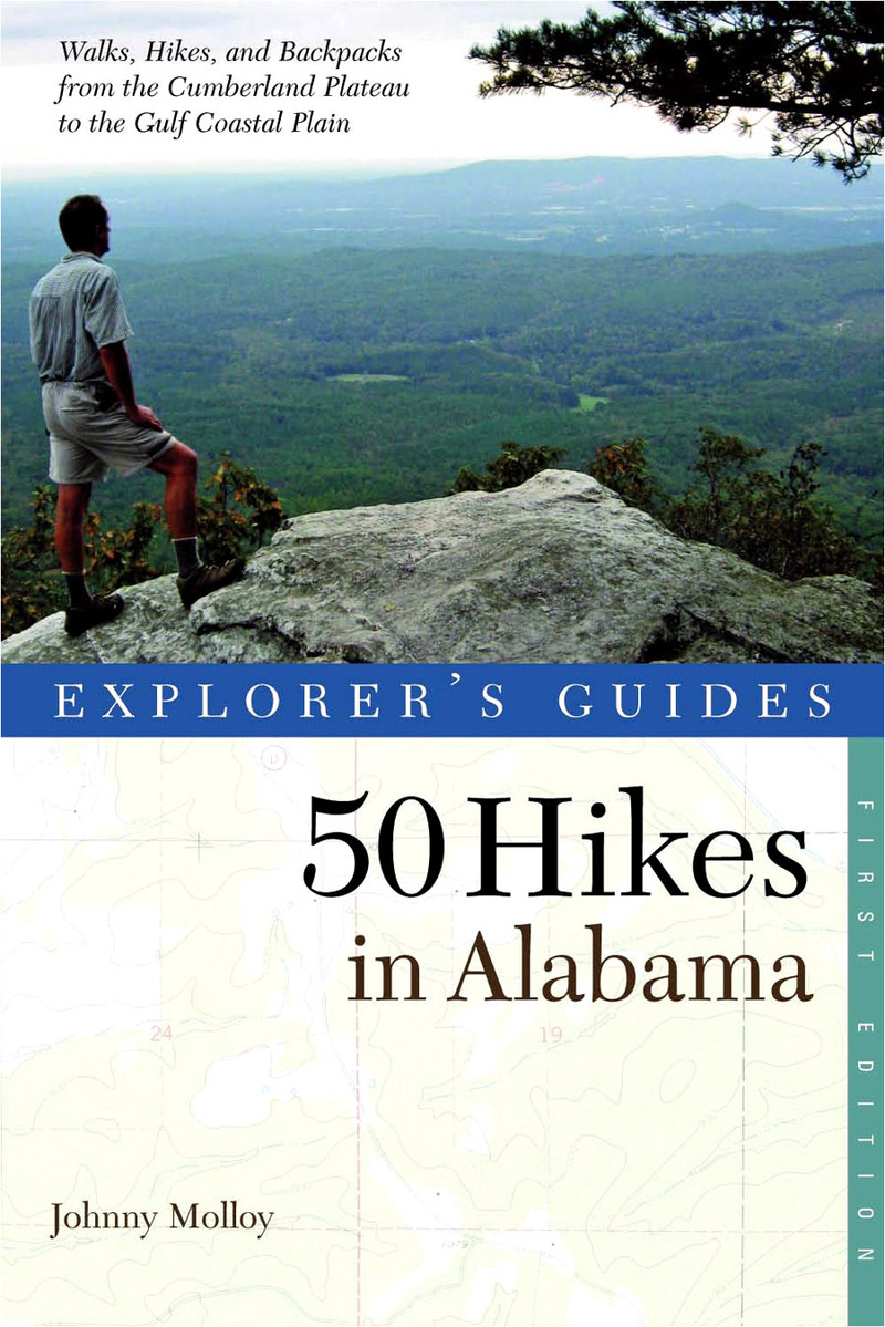 Book cover for Explorer's Guide 50 Hikes in Alabama by Johnny Molloy
