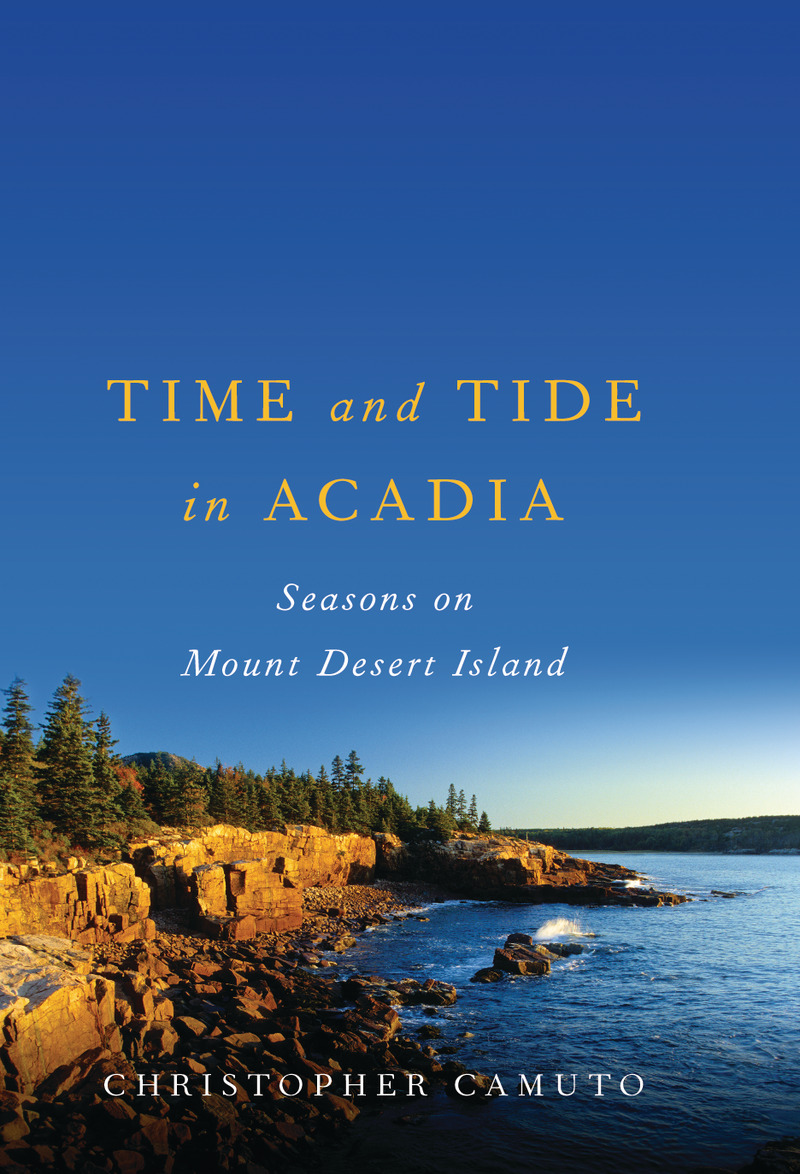 Book cover for Time and Tide in Acadia by Christopher Camuto
