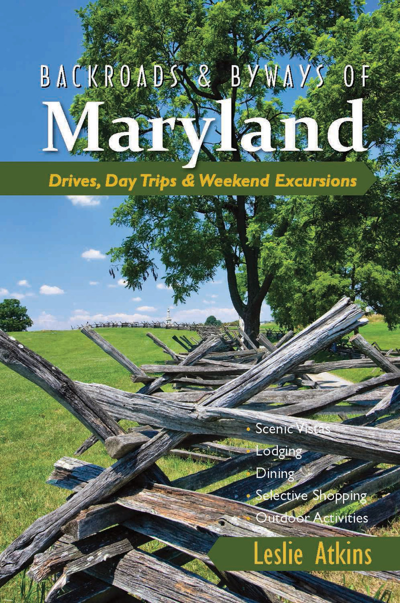 Book cover for Backroads & Byways of Maryland by Leslie Atkins