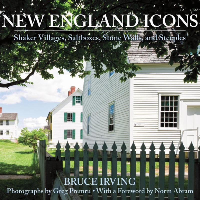 Book cover for New England Icons by Bruce Irving