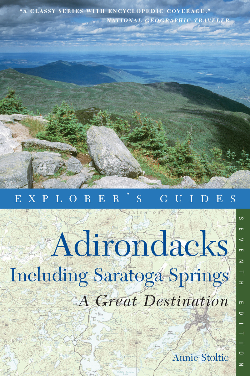 Book cover for Explorer's Guide Adirondacks: A Great Destination by Annie Stoltie