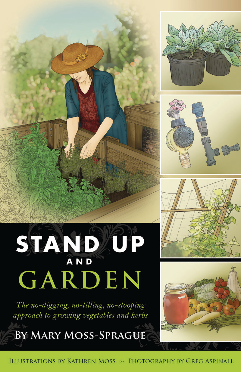 Book cover for Stand Up and Garden by Mary Moss-Sprague