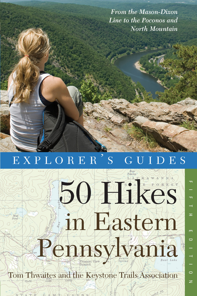 Book cover for Explorer's Guide 50 Hikes in Eastern Pennsylvania by Tom Thwaites