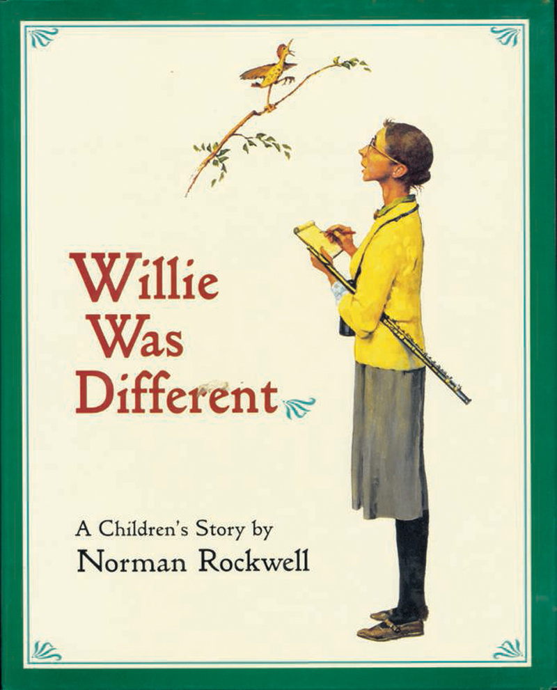 Book cover for Willie Was Different by Norman Rockwell