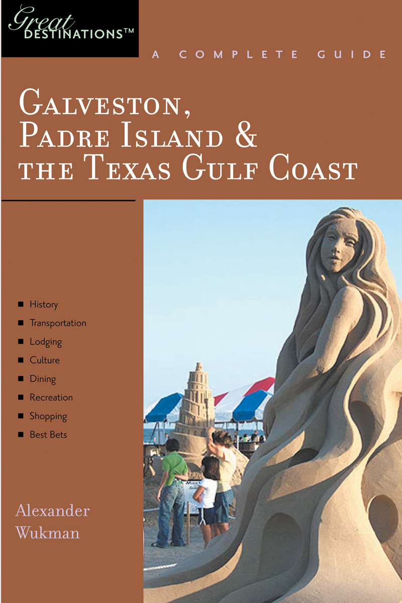 Book cover for Explorer's Guide Galveston, South Padre Island & the Texas Gulf Coast: A Great Destination by Alex Wukman