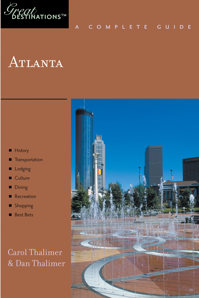 Book cover for Explorer's Guide Atlanta: A Great Destination by Carol Thalimer