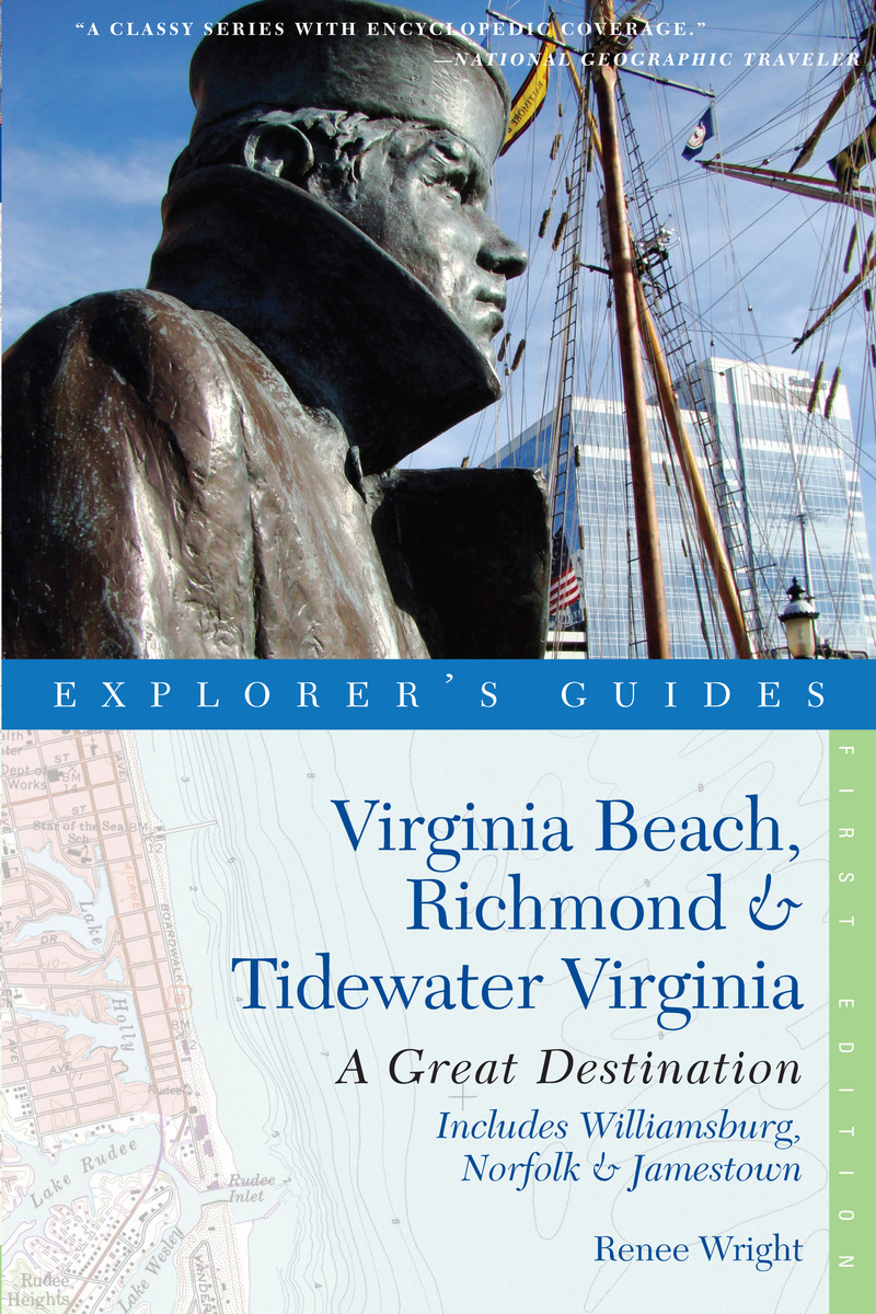 Book cover for Explorer's Guide Virginia Beach, Richmond and Tidewater Virginia by Renee Wright