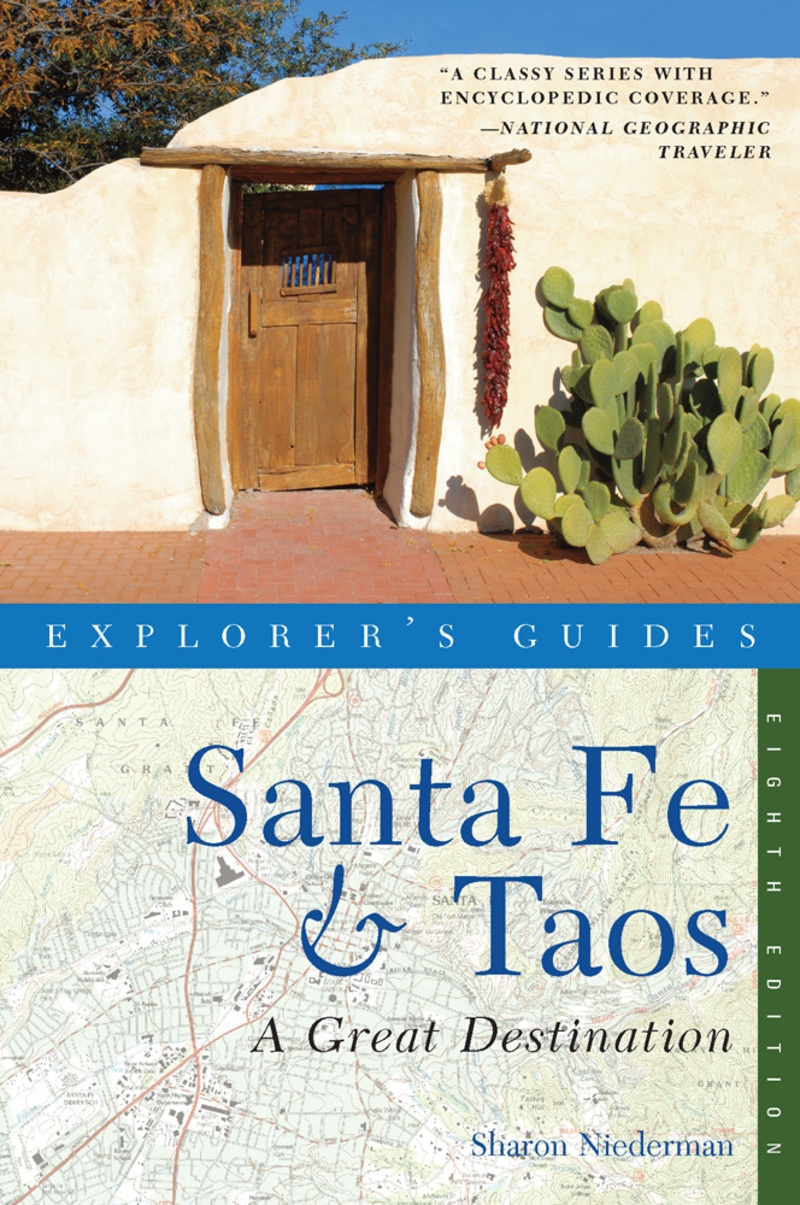 Book cover for Explorer's Guide Santa Fe & Taos: A Great Destination by Sharon Niederman