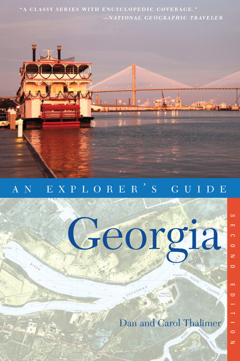 Book cover for Explorer's Guide Georgia by Carol Thalimer