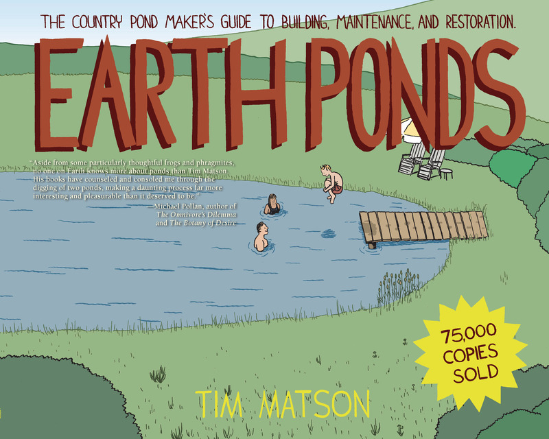 Book cover for Earth Ponds by Tim Matson