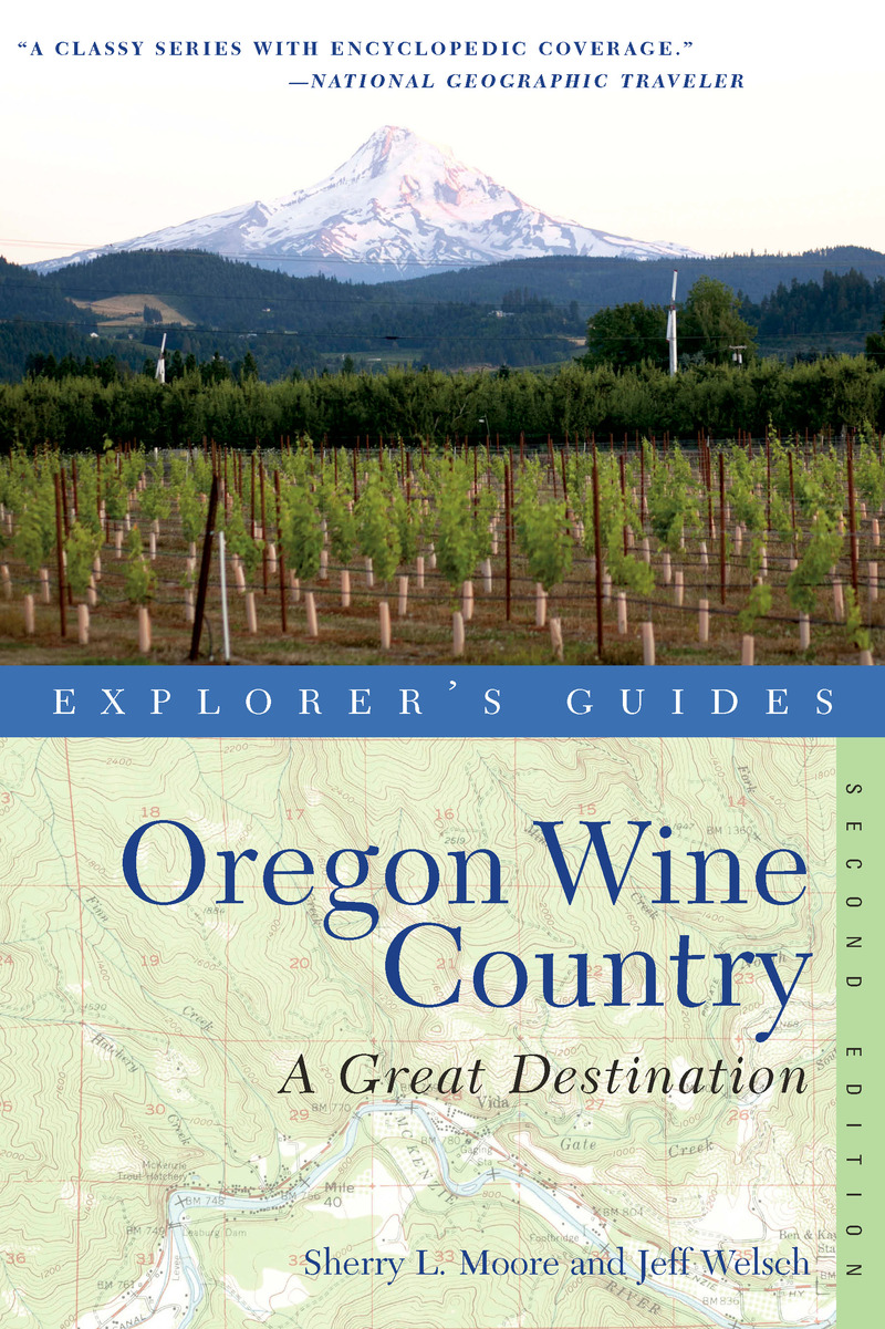 Book cover for Explorer's Guide Oregon Wine Country: A Great Destination by Sherry L. Moore