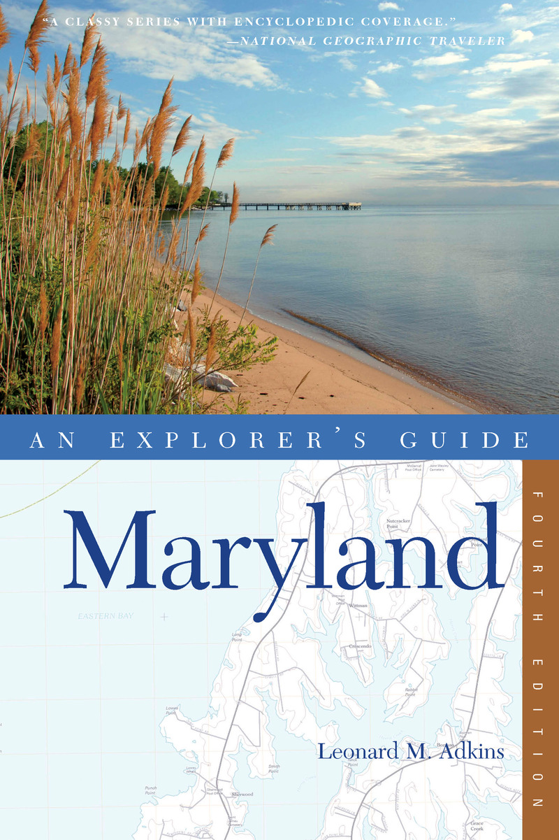 Book cover for Explorer's Guide Maryland by Leonard M. Adkins