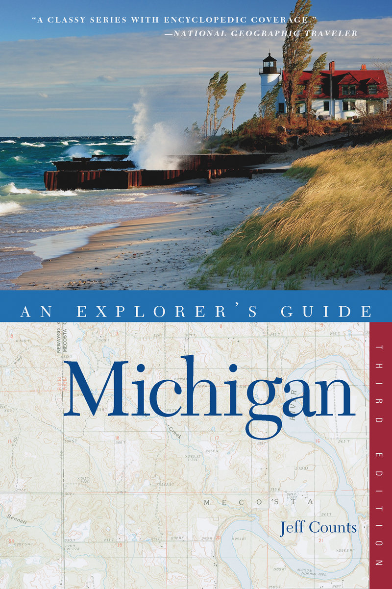 Book cover for Explorer's Guide Michigan by Jeff Counts