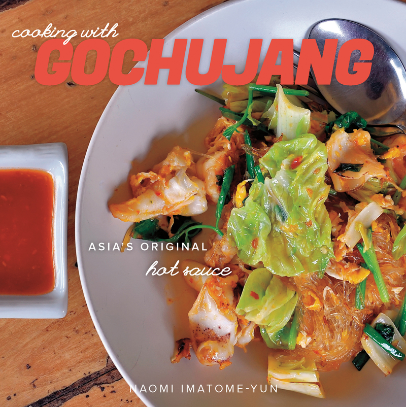 Book cover for Cooking with Gochujang by Naomi Imatome