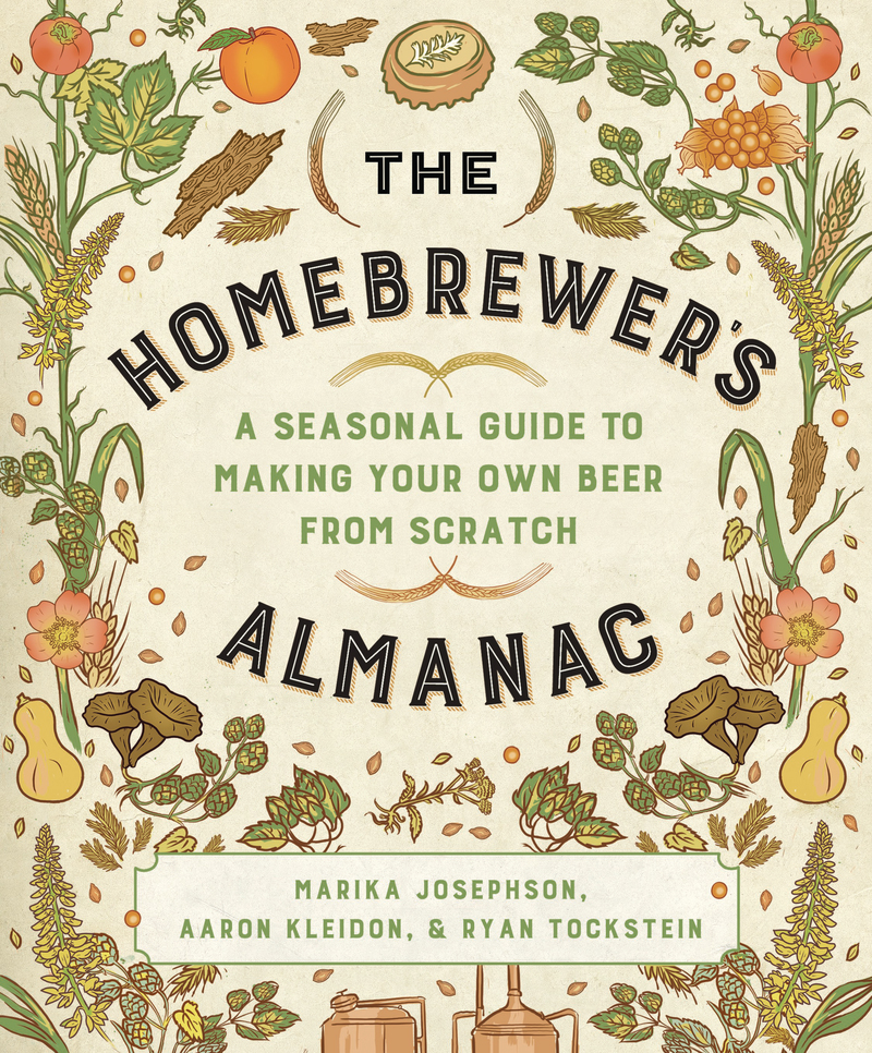 Book cover for The Homebrewer's Almanac by Marika Josephson