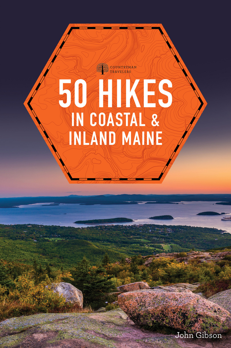 Book cover for 50 Hikes in Coastal and Inland Maine by John Gibson