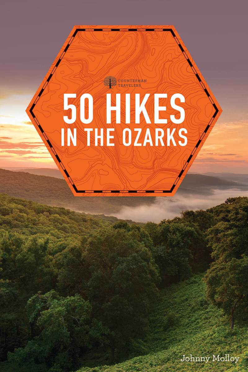 Book cover for 50 Hikes in the Ozarks by Johnny Molloy