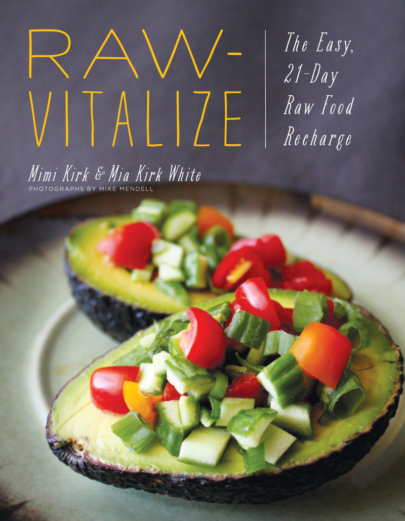 Book cover for Raw-Vitalize by Mimi Kirk