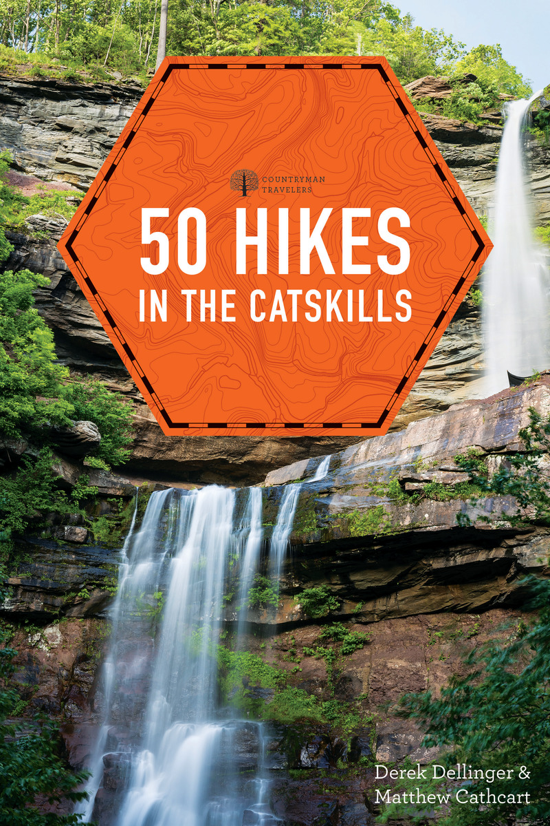 Book cover for 50 Hikes in the Catskills by Derek Dellinger