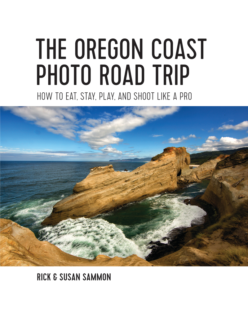Book cover for The Oregon Coast Photo Road Trip by Rick Sammon