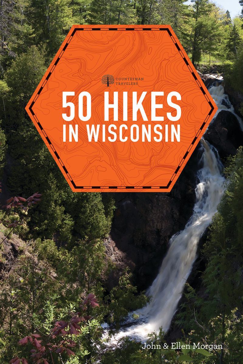 Book cover for 50 Hikes in Wisconsin by Ellen Morgan