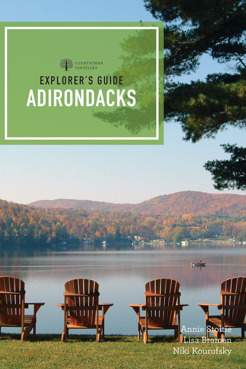 Book cover for Explorer's Guide Adirondacks by Annie Stoltie