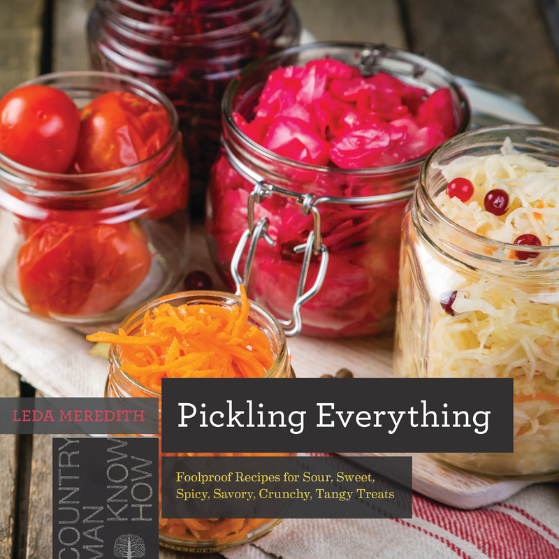 Book cover for Pickling Everything by Leda Meredith