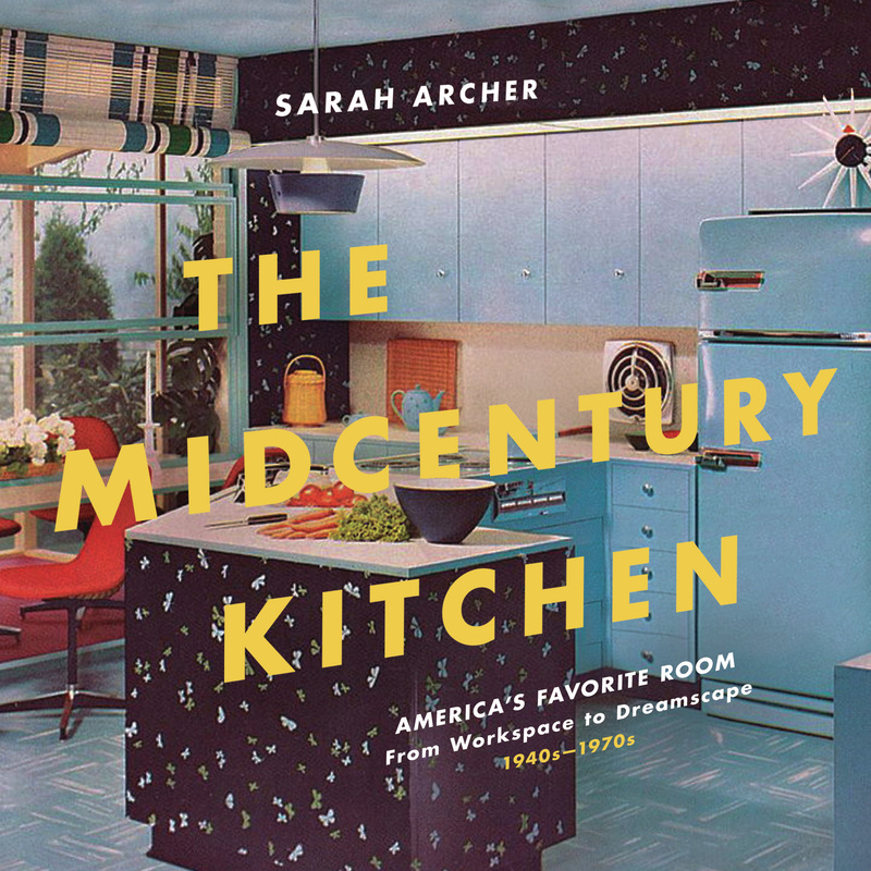 Book cover for The Midcentury Kitchen by Sarah Archer