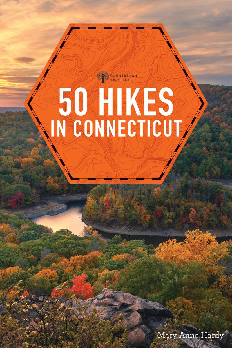 Book cover for 50 Hikes in Connecticut by Mary Anne Hardy