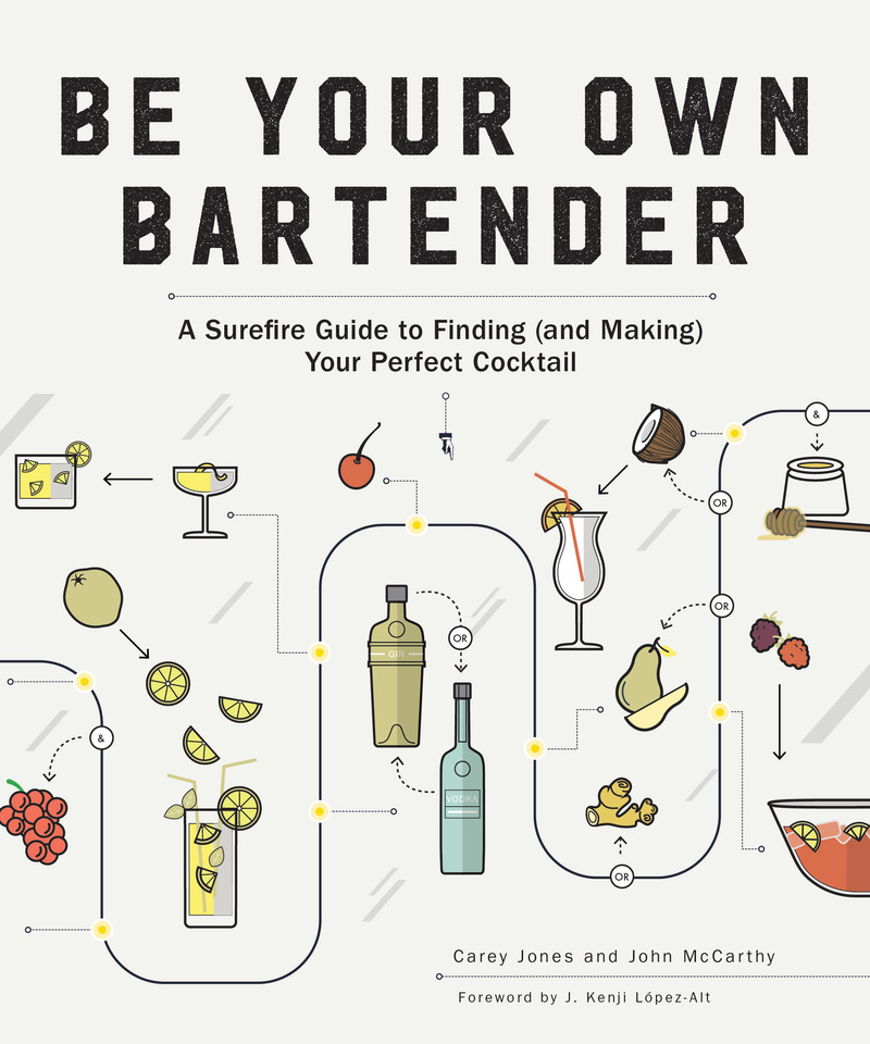 Book cover for Be Your Own Bartender by Carey Jones