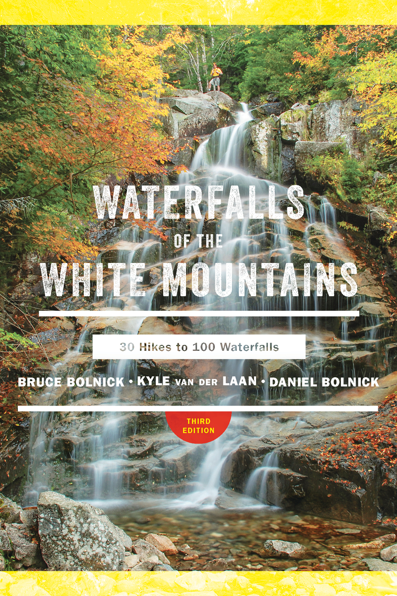 Book cover for Waterfalls of the White Mountains by Bruce R. Bolnick