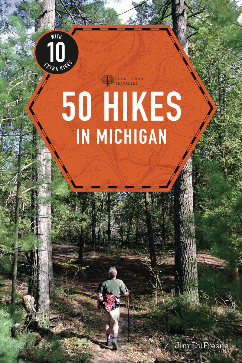 Book cover for 50 Hikes in Michigan by Jim DuFresne