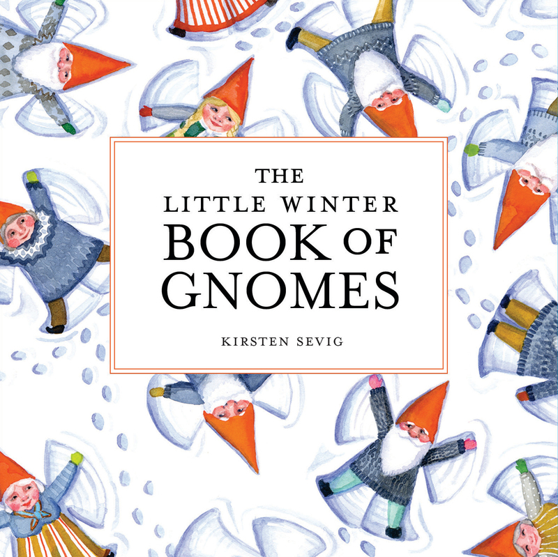 Book cover for The Little Winter Book of Gnomes by Kirsten Sevig