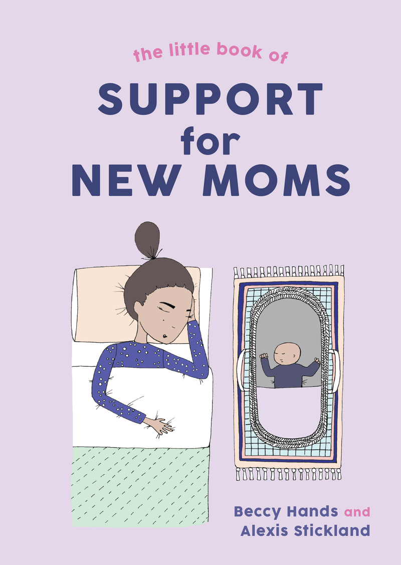 Book cover for The Little Book of Support for New Moms by Beccy Hands